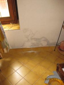 dégats - humidité sur murs